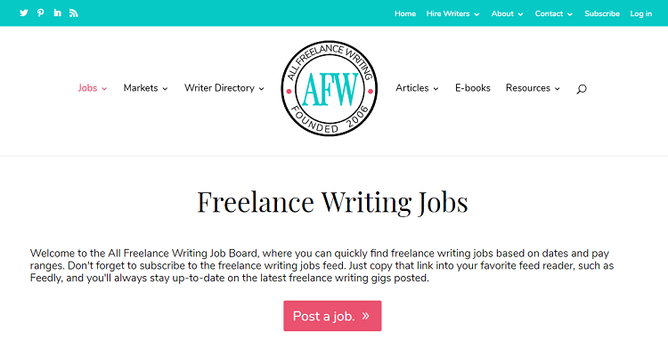 10 Resources for Finding Freelance Writing Work | WHSR