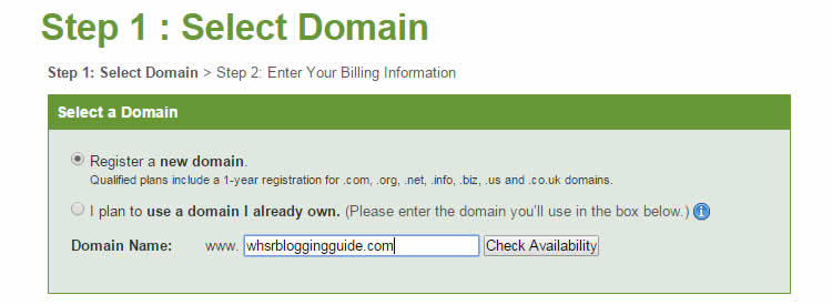 ipage - blogging tip - add domain
