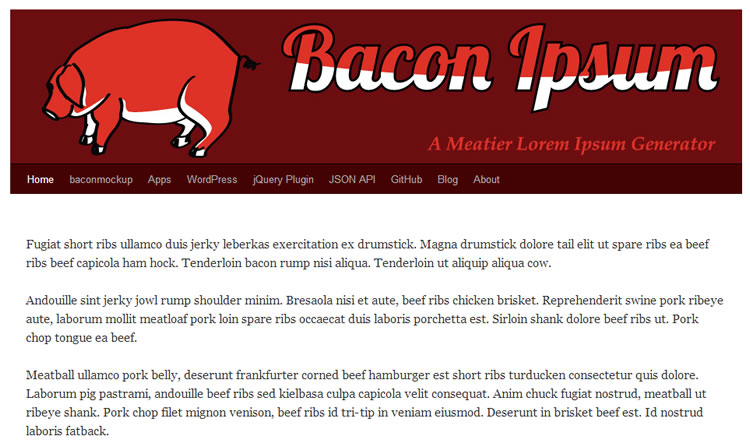 Baconipsum - click image to visit online.