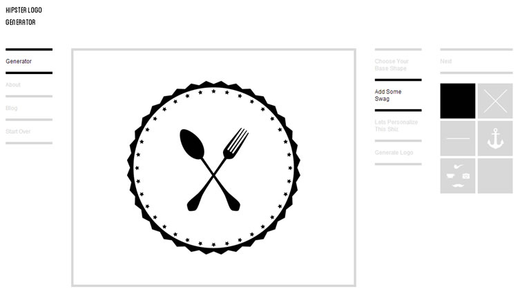 Hipster - minimalist logo generator, hipster style! Click image to visit online
