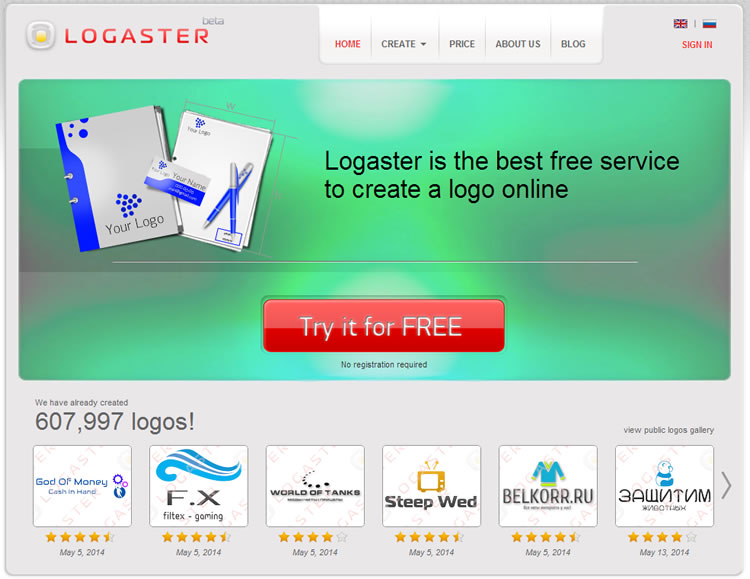 Logaster - create logo and business cards at ease. Click image to visit online.