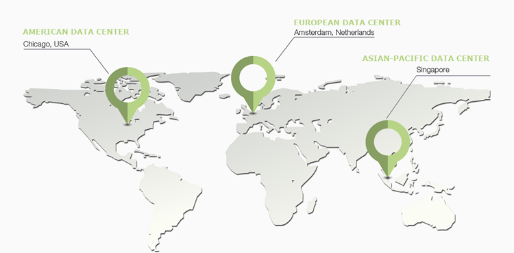 WebHostFace servers are located in three different locations: Chicago, USA, Amsterdam Netherlands, and Singapore in the Asian-Pacific region.