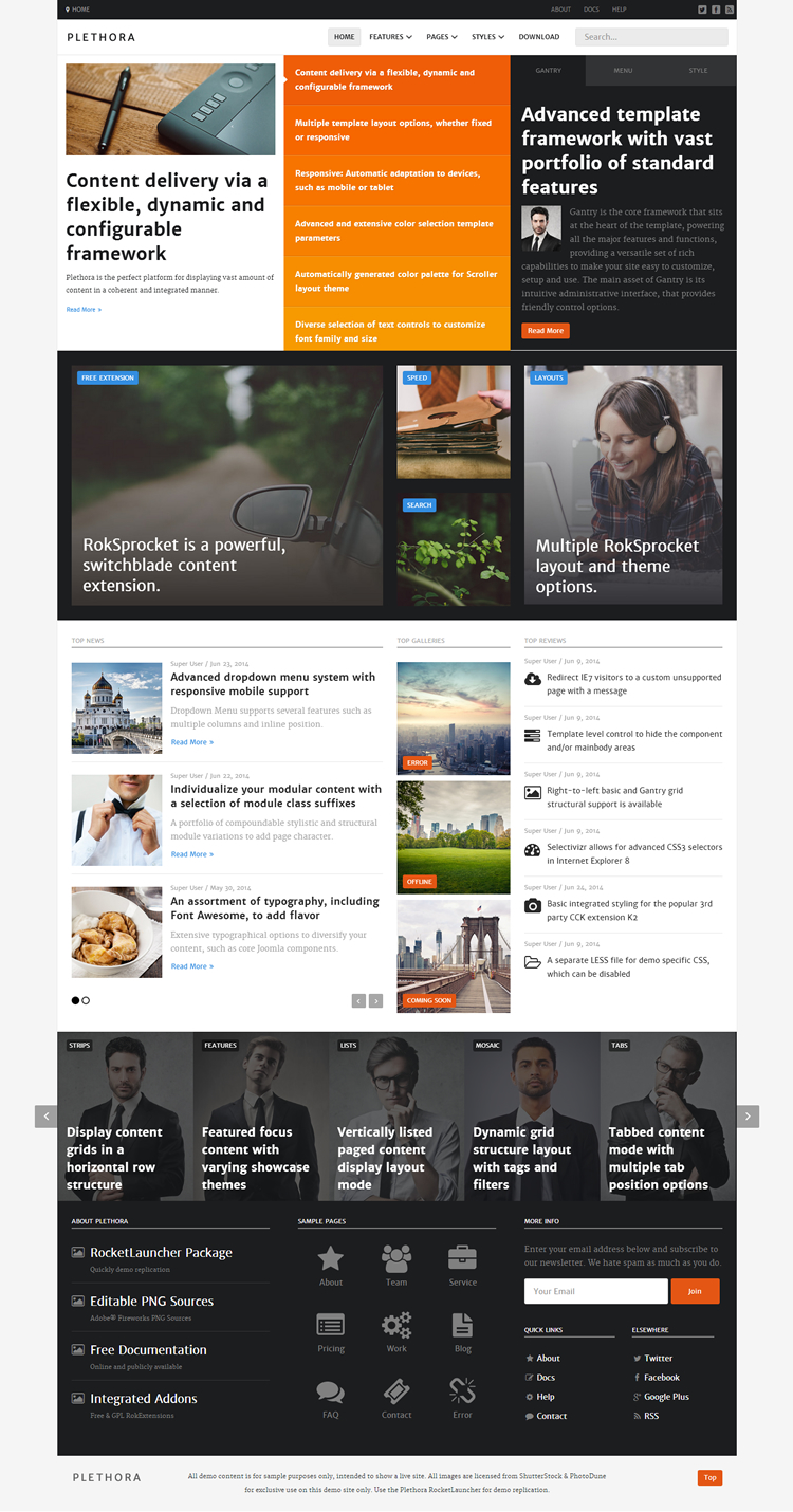 Joomla Template - Plethora