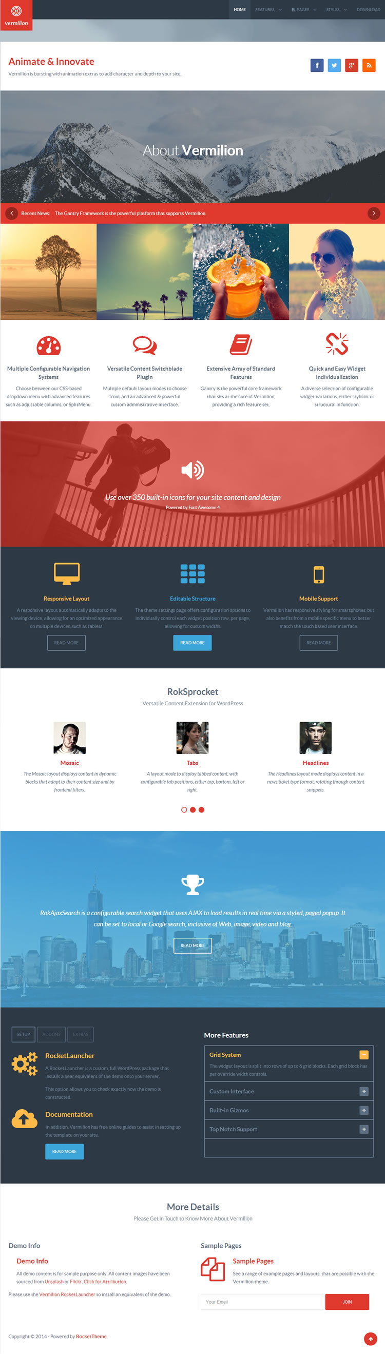Plantilla Wordpress - Vermilion
