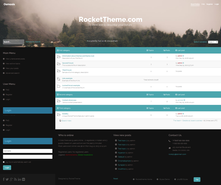 phpBB Template - Osmoz
