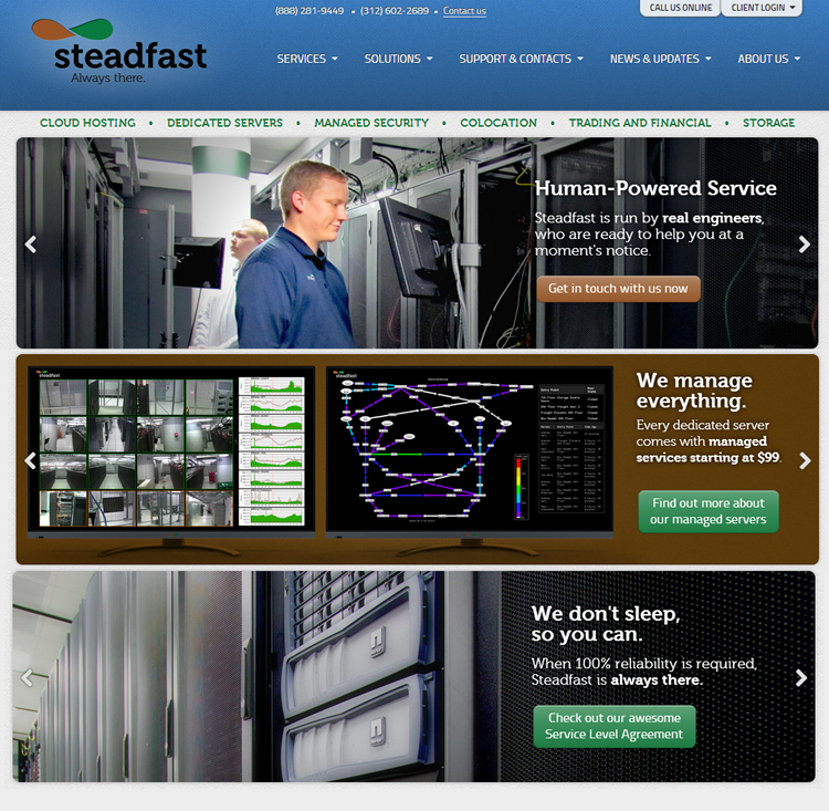 Steadfast - Cloud Hosting, Dedicated Server, and Colocation Services
