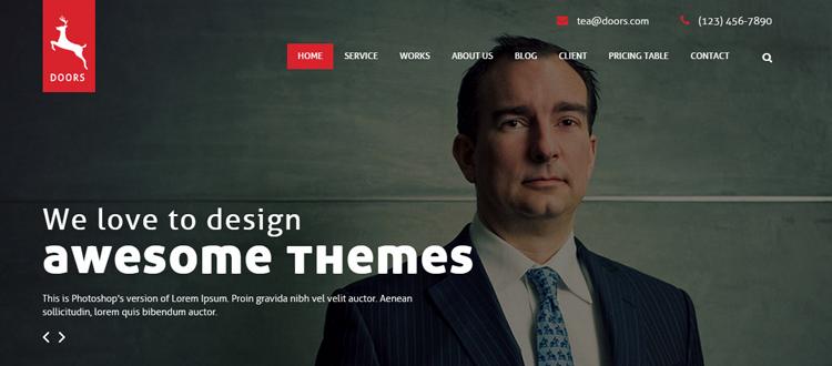 Puertas - Temas minimalistas de WordPress