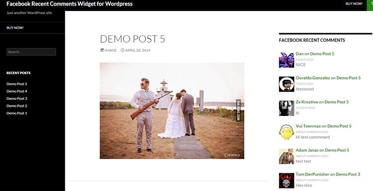 Facebook Recent Comments Widget for WordPress   Just another WordPress site