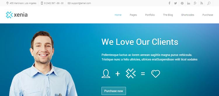 Xenia - Temas minimalistas de WordPress