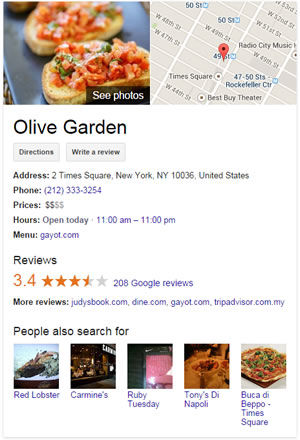 NYC - Times Square Italian Restaurant - Olive Garden