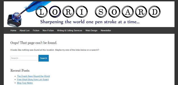 lori soard 404 error page