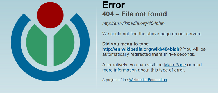 wikipedia 404