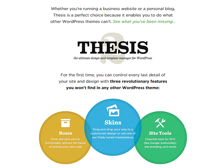 review of thesis wordpress theme