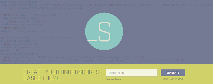 Underscores A Starter Theme for WordPress