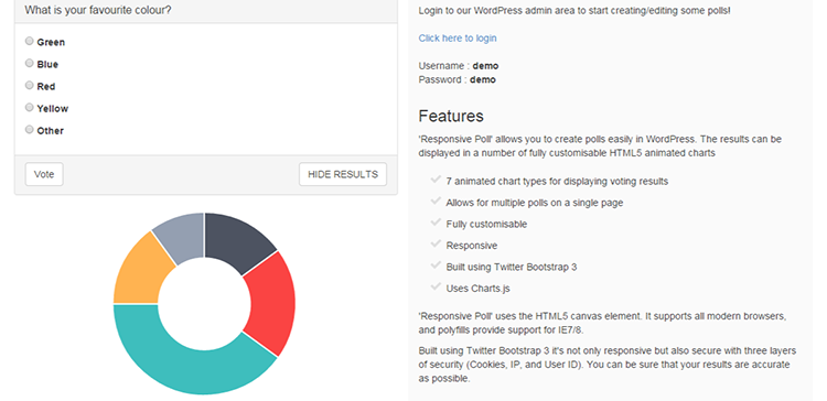 Poll Responsif - WordPress Plugin Weblator