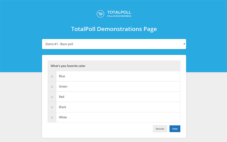 TotalPoll • Demonstrasi