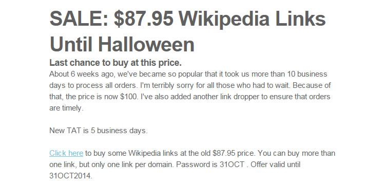 buying wikipedia links