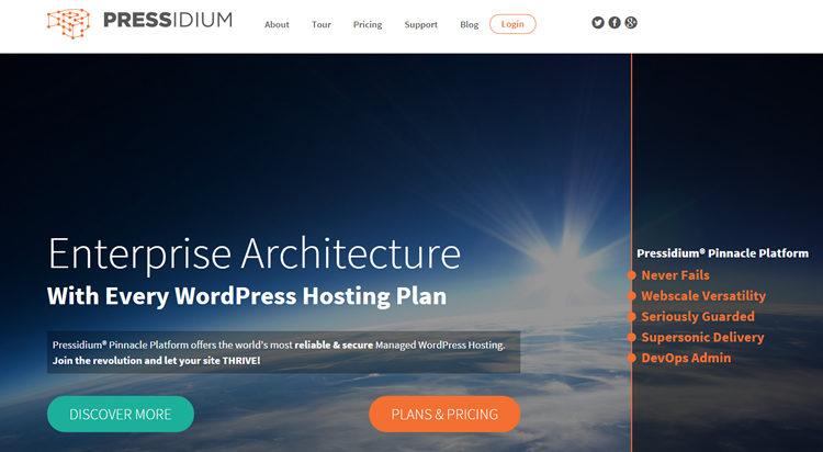Homepage Pressidium