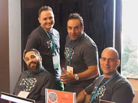Pressidium Co-Founders John Andriopoulos, Filip Slavik, Giannis Zachariadis and Andrew Georges.