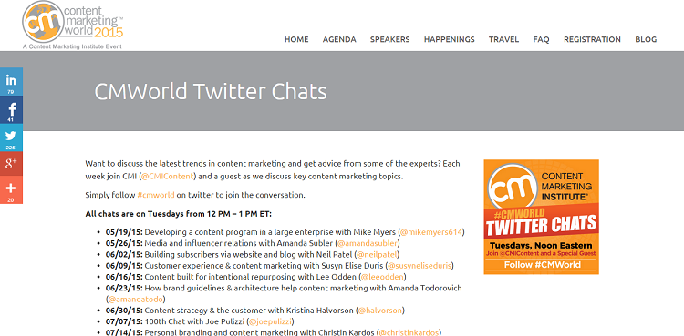 chatting twitter cmworld