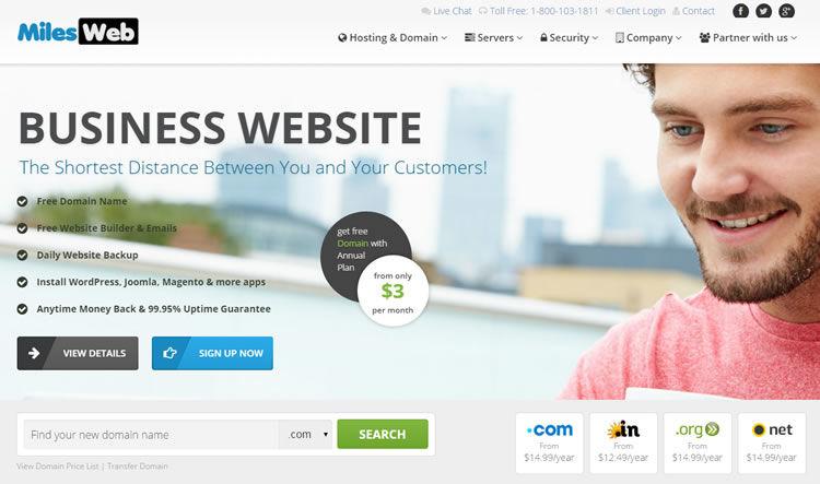 milesweb discount