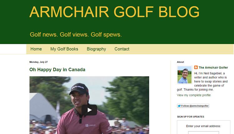 armchair golf blog screenshot