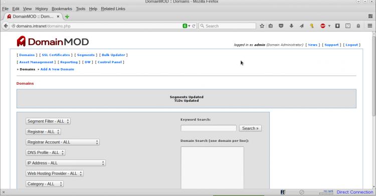 DomainMOD Screenshot