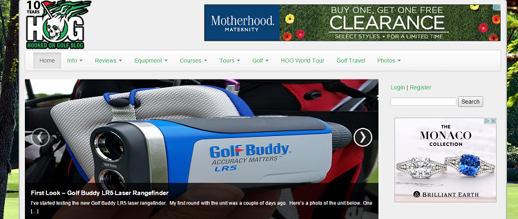 collegato allo screenshot del golf blog