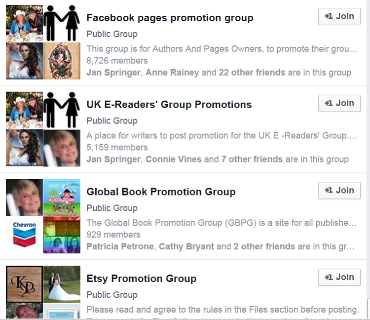 promotion groups