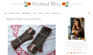 Modiciation Mondays at Knitted Bliss are a great example of how to steal ideas the right way.