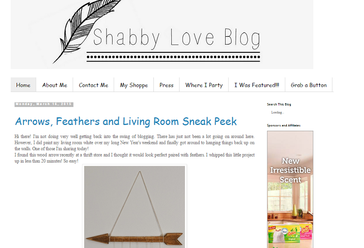 shabby love blog screenshot