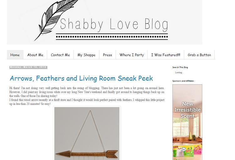 shabby  love blog screenshot