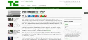 當Odeo首次宣布推出Twttr時,它獲得了很多負面評論。