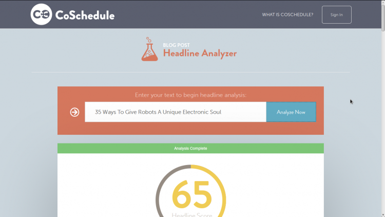 Coexchedule's Headline Analyzer