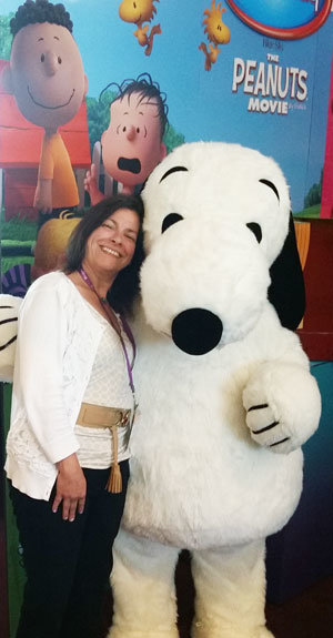 Gina et Snoopy
