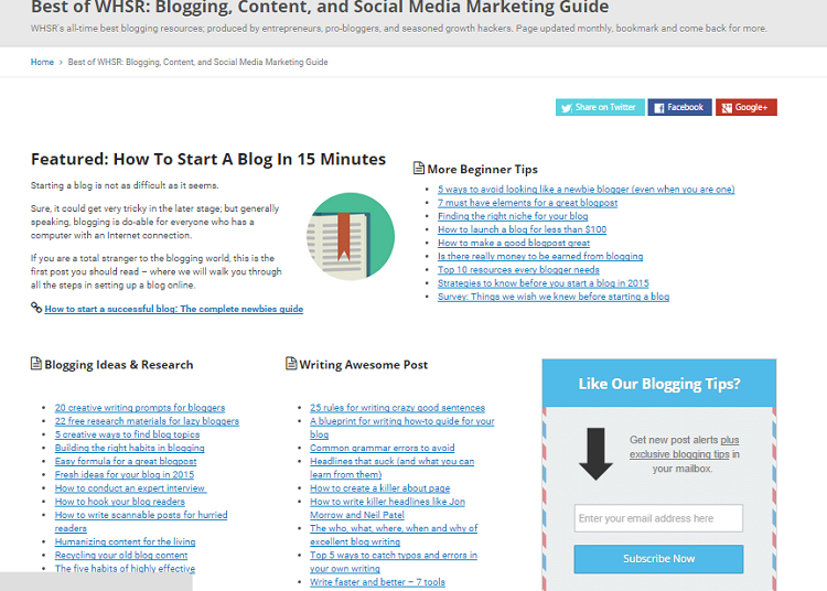 tips blogging whsr