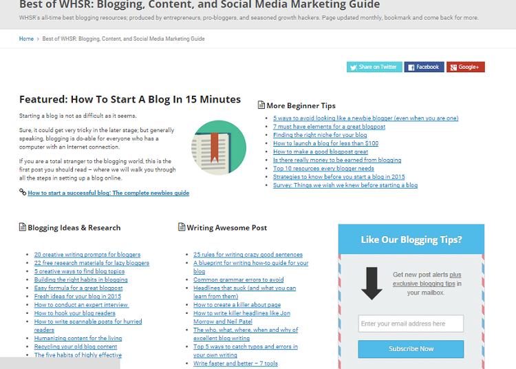 whsr blogging tips