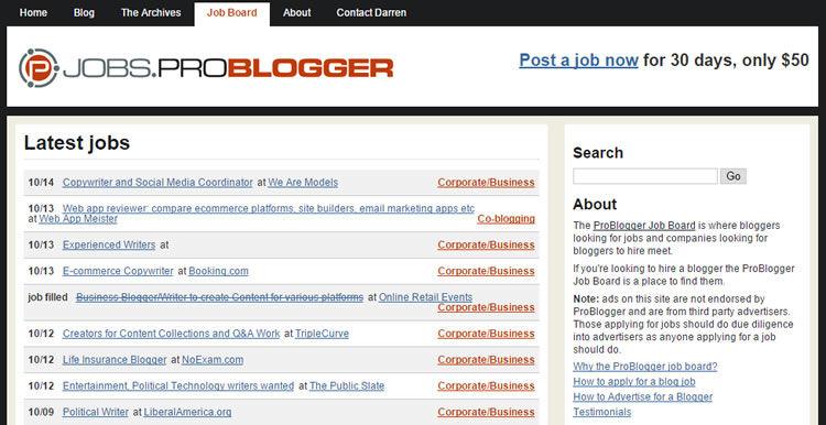 Problogger工作板