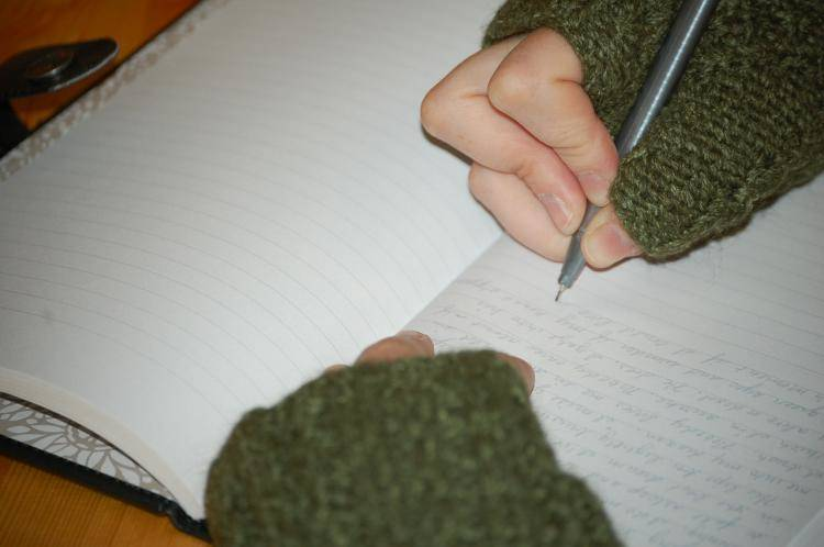 Exercise writing to get rid of writer's block!