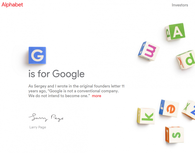Google is leading the way with Alphabet's clever new domain, abc.xyz