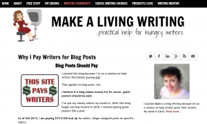 Carol Tice of MakeALivingWriting believes that if a blog makes money for its owner, guest posters should be paid.