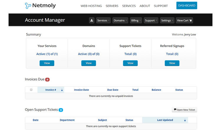 You get to control everything from your Netmoly dashboard - which is very convenient.