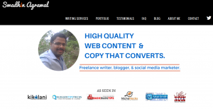 Swadhin Agrawal recommends perusing freelance writing blogs to search for writers.