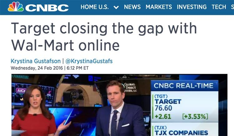 Target che chiude The Gap con Wal-Mart online