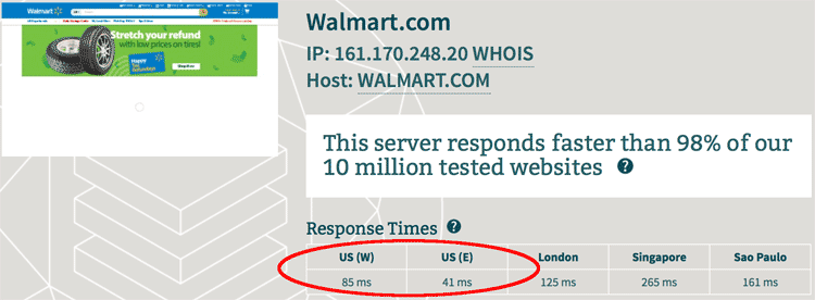 Wal-Mart Server Speed