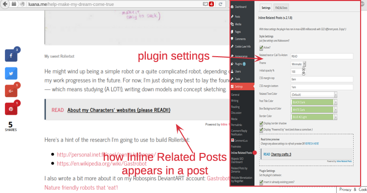 Inline Related Posts - Example and Settings