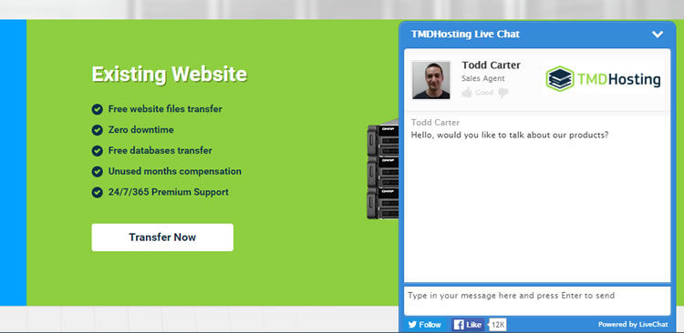 Impressive - Help is on standby as soon as you landed on TMDHosting website.
