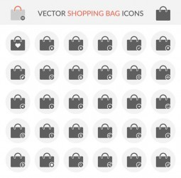Vector Shopping Bag Icons