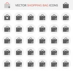 Vector Shopping Bag Icons
