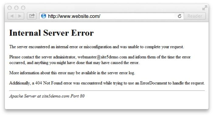 500 Internal Error Server